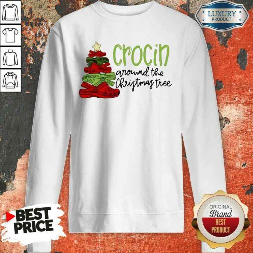 Funny Crocin Around The Christmas Tree Sweatshirt-Design By Soyatees.com