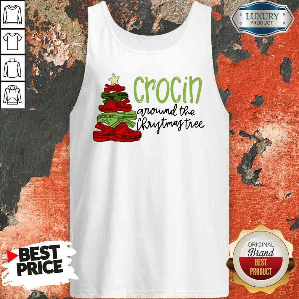 Funny Crocin Around The Christmas Tree Tank Top-Design By Soyatees.com