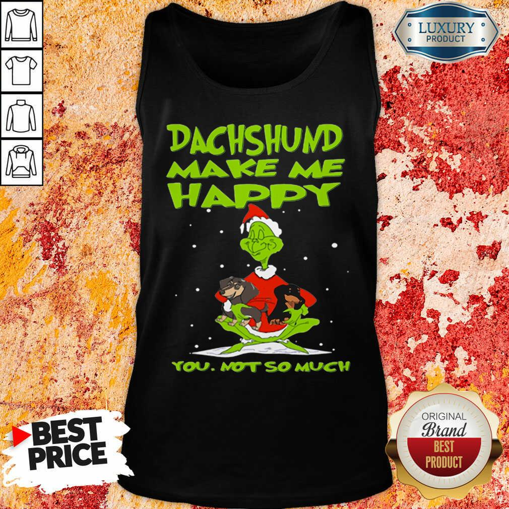 Grinch And Dachshund Make Me Happy You Not So Much Christmas Tank Top-Design By Soyatees.com