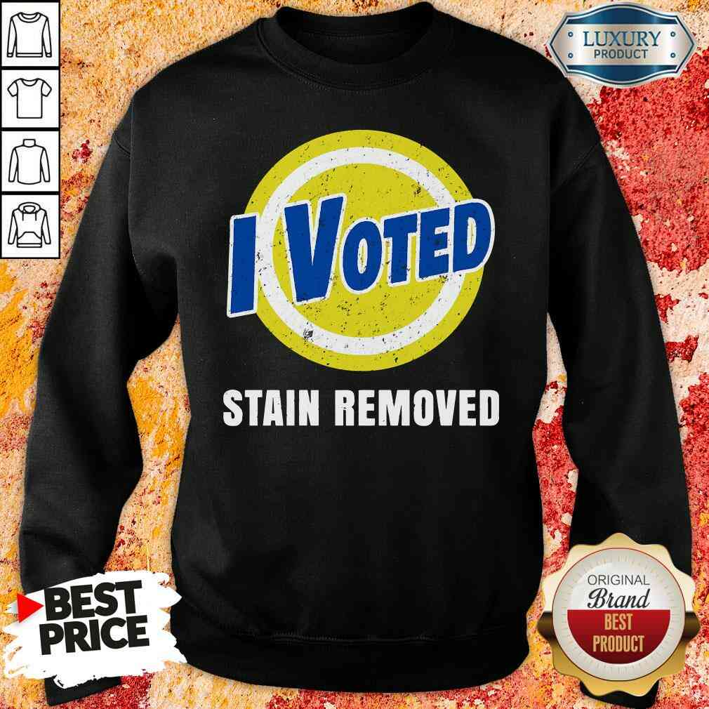 Funny I Voted Stain Removed Sweatshirt-Design By Soyatees.com