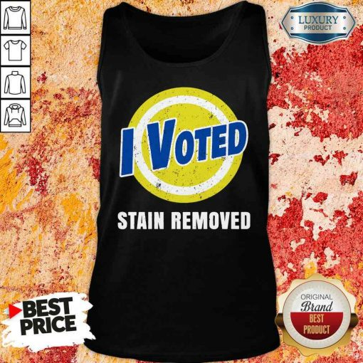 Funny I Voted Stain Removed Tank Top-Design By Soyatees.com