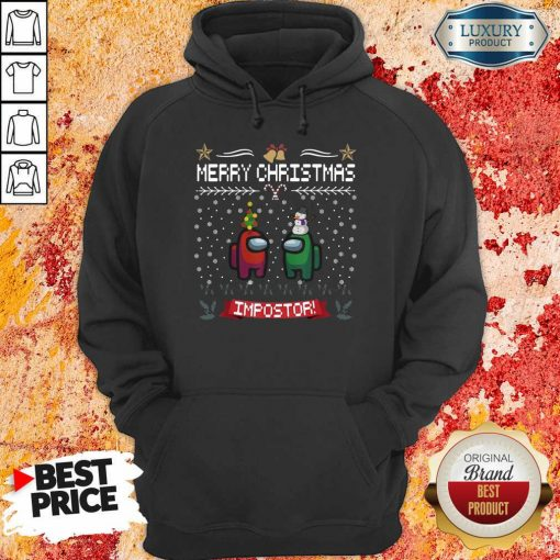 Impostor Imposter Among Game Us Sus Ugly Christmas Hoodie-Design By Soyatees.com