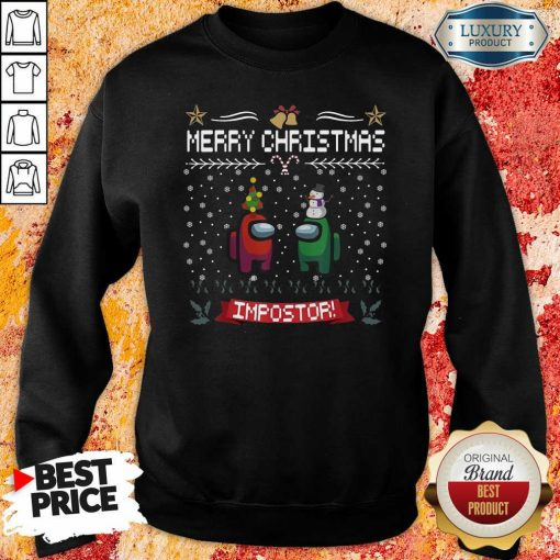 Impostor Imposter Among Game Us Sus Ugly Christmas Sweatshirt-Design By Soyatees.com
