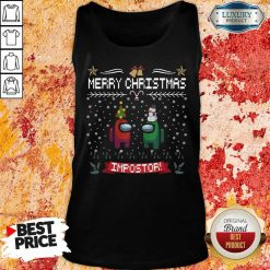 Impostor Imposter Among Game Us Sus Ugly Christmas Tank Top-Design By Soyatees.com