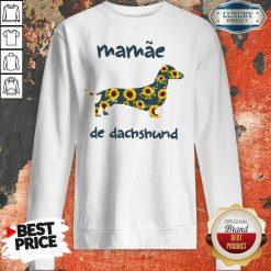 Funny Mamae De Dachshund Sweatshirt-Design By Soyatees.com