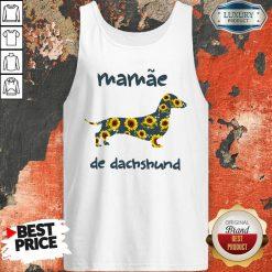 Funny Mamae De Dachshund Tank Top-Design By Soyatees.com
