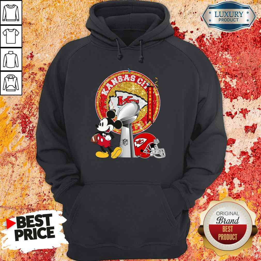 Funny Mickey Mouse Kansas City Chiefs Champions Hoodie-Design By Soyatees.com