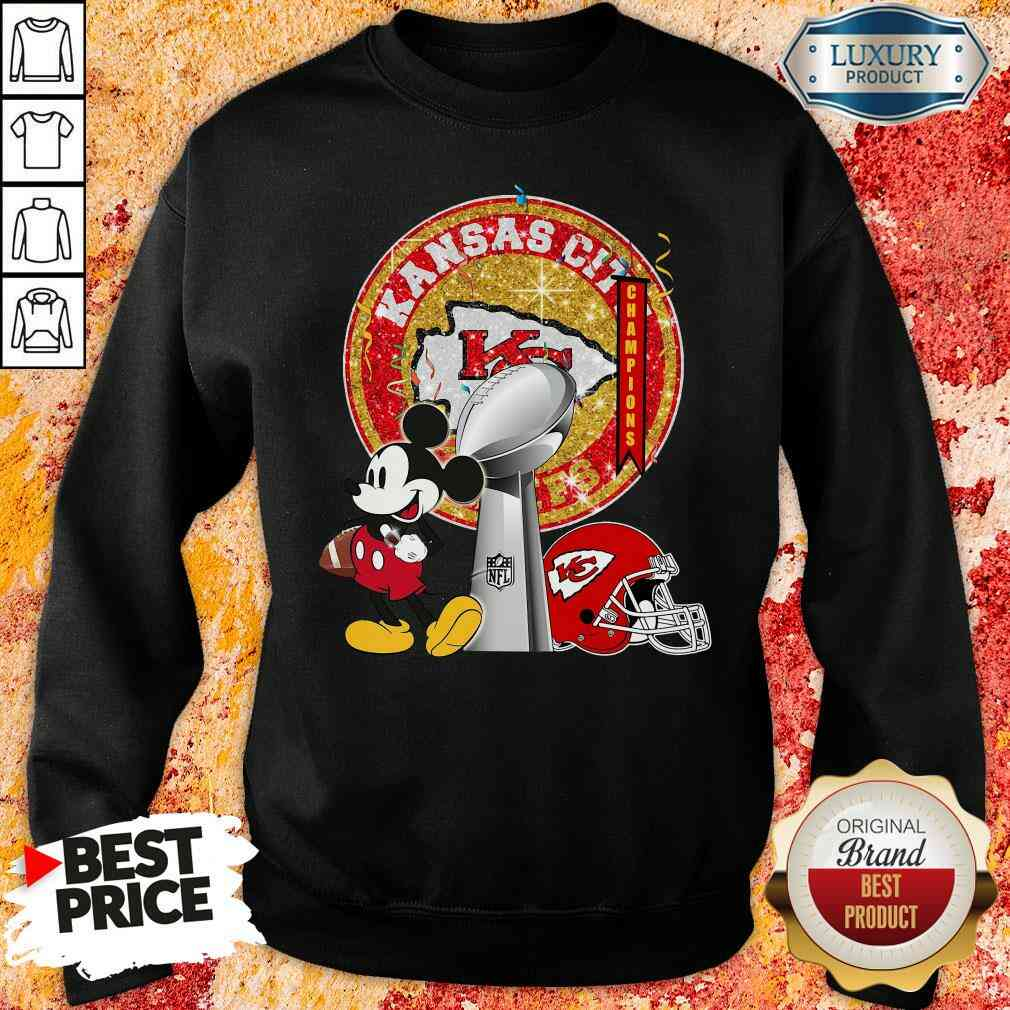 Funny Mickey Mouse Kansas City Chiefs Champions Sweatshirt-Design By Soyatees.com