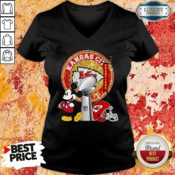 Funny Mickey Mouse Kansas City Chiefs Champions V-neck-Design By Soyatees.com