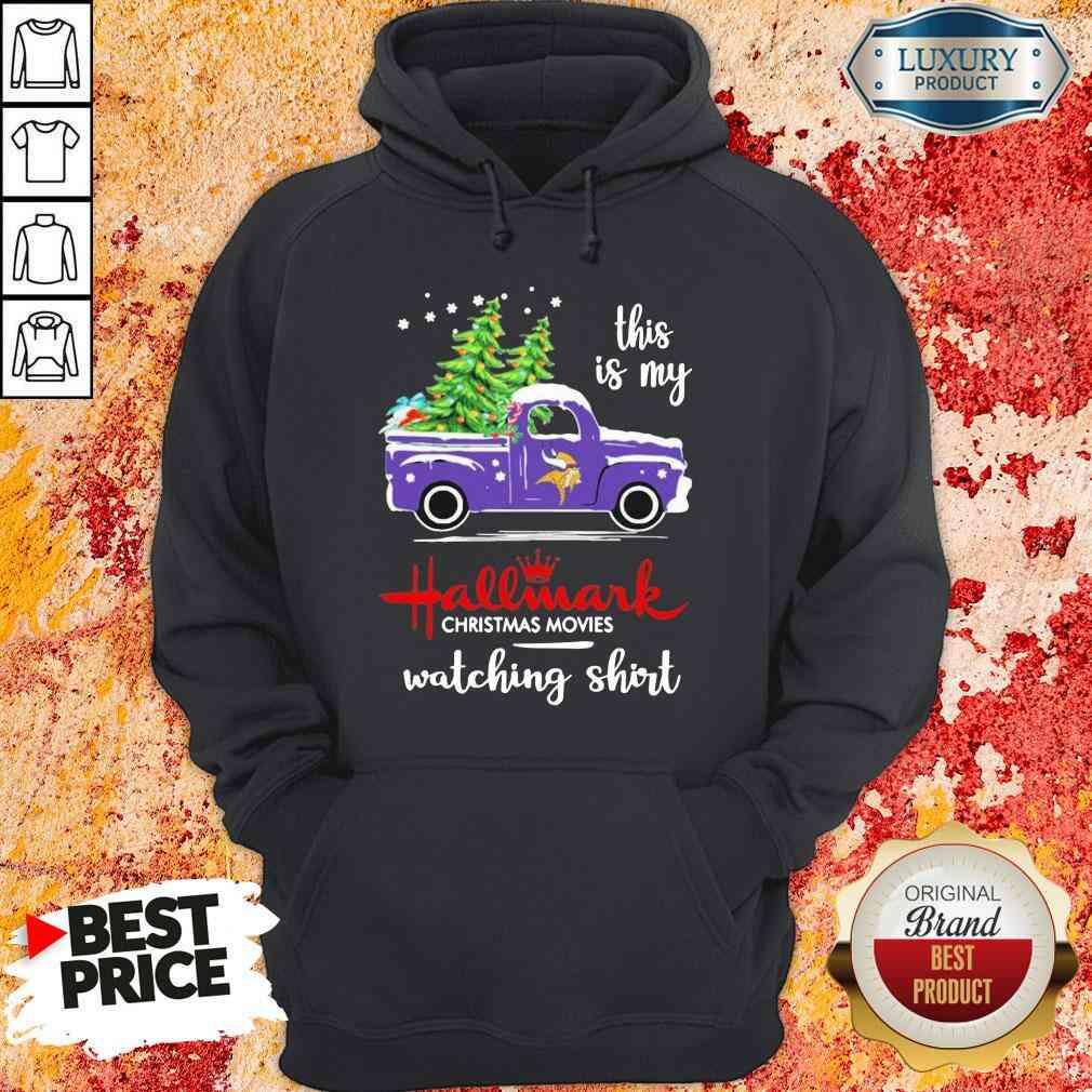 Funny Minnesota Vikings This Is My Hallmark Christmas Movies Watching Hoodie-Design By Soyatees.com