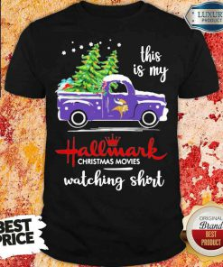 Funny Minnesota Vikings This Is My Hallmark Christmas Movies Watching Shirt-Design By Soyatees.com