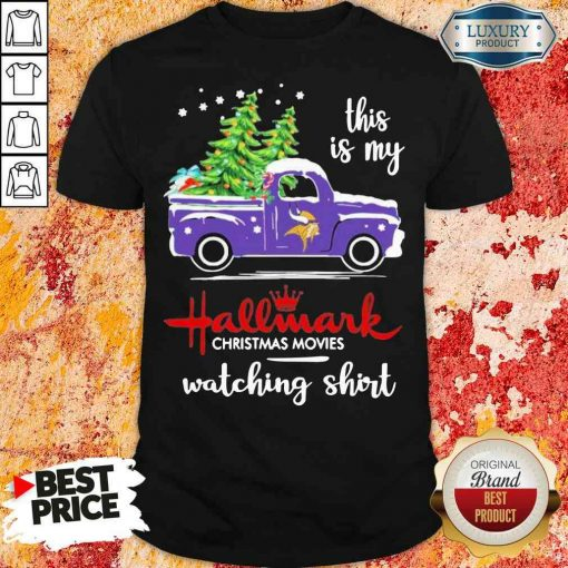 Funny Minnesota Vikings This Is My Hallmark Christmas Movies Watching Shirt-Design By Soyatees.com