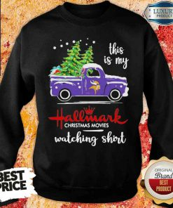 Funny Minnesota Vikings This Is My Hallmark Christmas Movies Watching Sweatshirt-Design By Soyatees.com