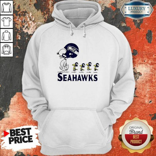 Snoopy And Woodstock Player Of Seattle Seahawks Hoodie-Design By Soyatees.com