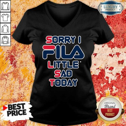 Sorry I Fila Little Sad Today Tank Top-Design By Soyatees.com