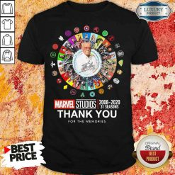 Funny Stan Lee Marvel Studios 2008 2020 31 Seasons Thank You For The Memories Shirt-Design By Soyatees.com
