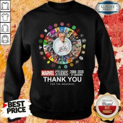 Funny Stan Lee Marvel Studios 2008 2020 31 Seasons Thank You For The Memories Swewatshirt-Design By Soyatees.com