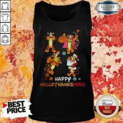 Funny Tiger Happy Hallothanksmas Tank Top-Design By Soyatees.com