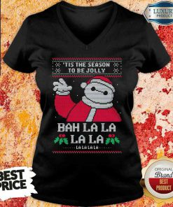 Funny Tis The Season To Be Jolly Bah La La Ugly Christmas V-neck-Design By Soyatees.com