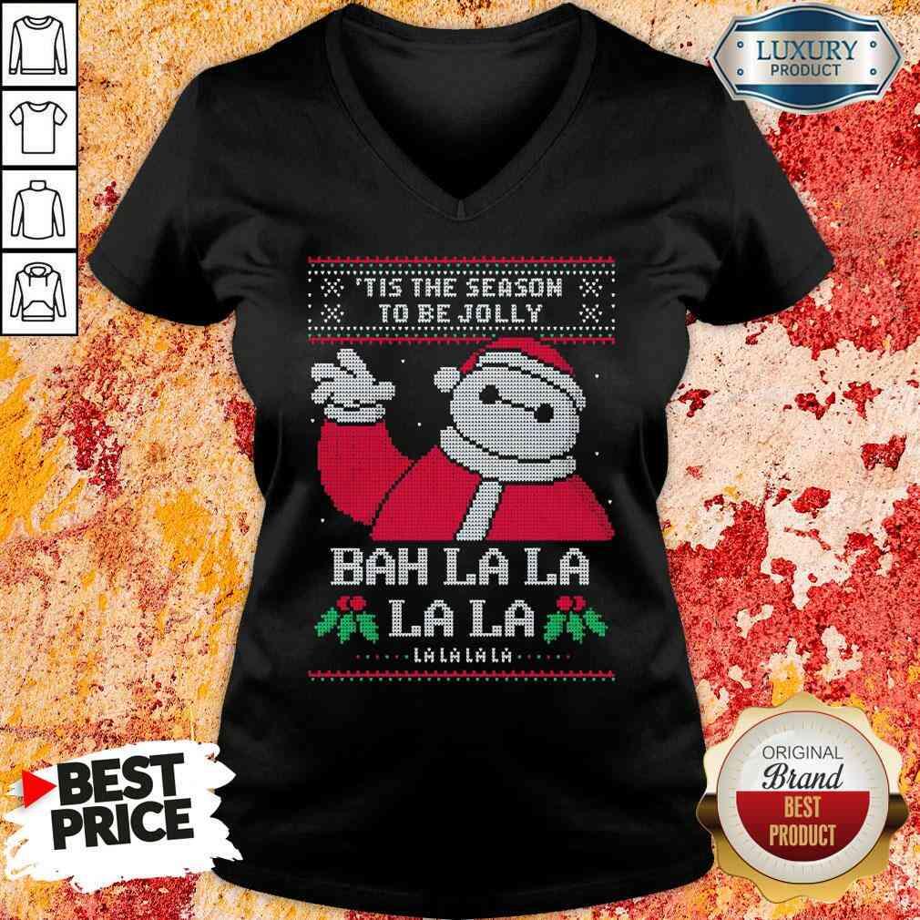 Funny Tis The Season To Be Jolly Bah La La Ugly Christmas V-neck-Design By Soyatees.com
