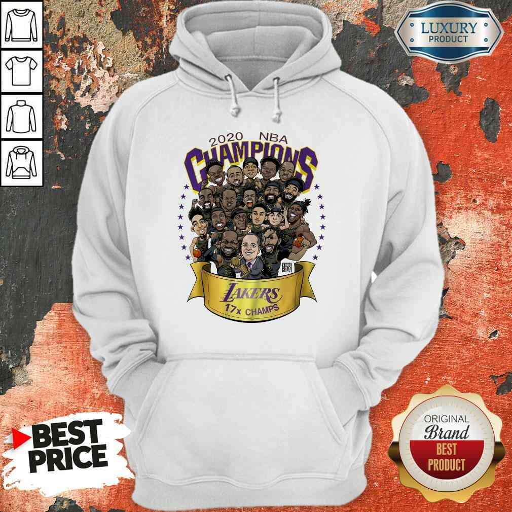 Good 2020 Nba Champions Los Angeles Lakers 17 Champs Cartoon Hoodie-Design By Soyatees.com