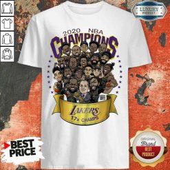 Good 2020 Nba Champions Los Angeles Lakers 17 Champs Cartoon Shirt-Design By Soyatees.com