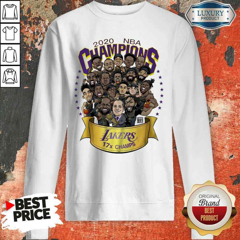 Good 2020 Nba Champions Los Angeles Lakers 17 Champs Cartoon Sweatshirt-Design By Soyatees.com