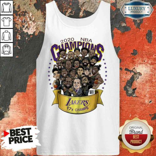 Good 2020 Nba Champions Los Angeles Lakers 17 Champs Cartoon Tank Top-Design By Soyatees.com