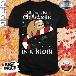 Good All I Want For Christmas Is Sloth Lovers Christmas Pajama Shirt-Design By Soyatees.com