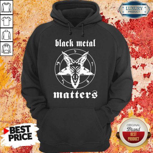 Goat Black Metal Matters Hoodie-Design By Soyatees.com