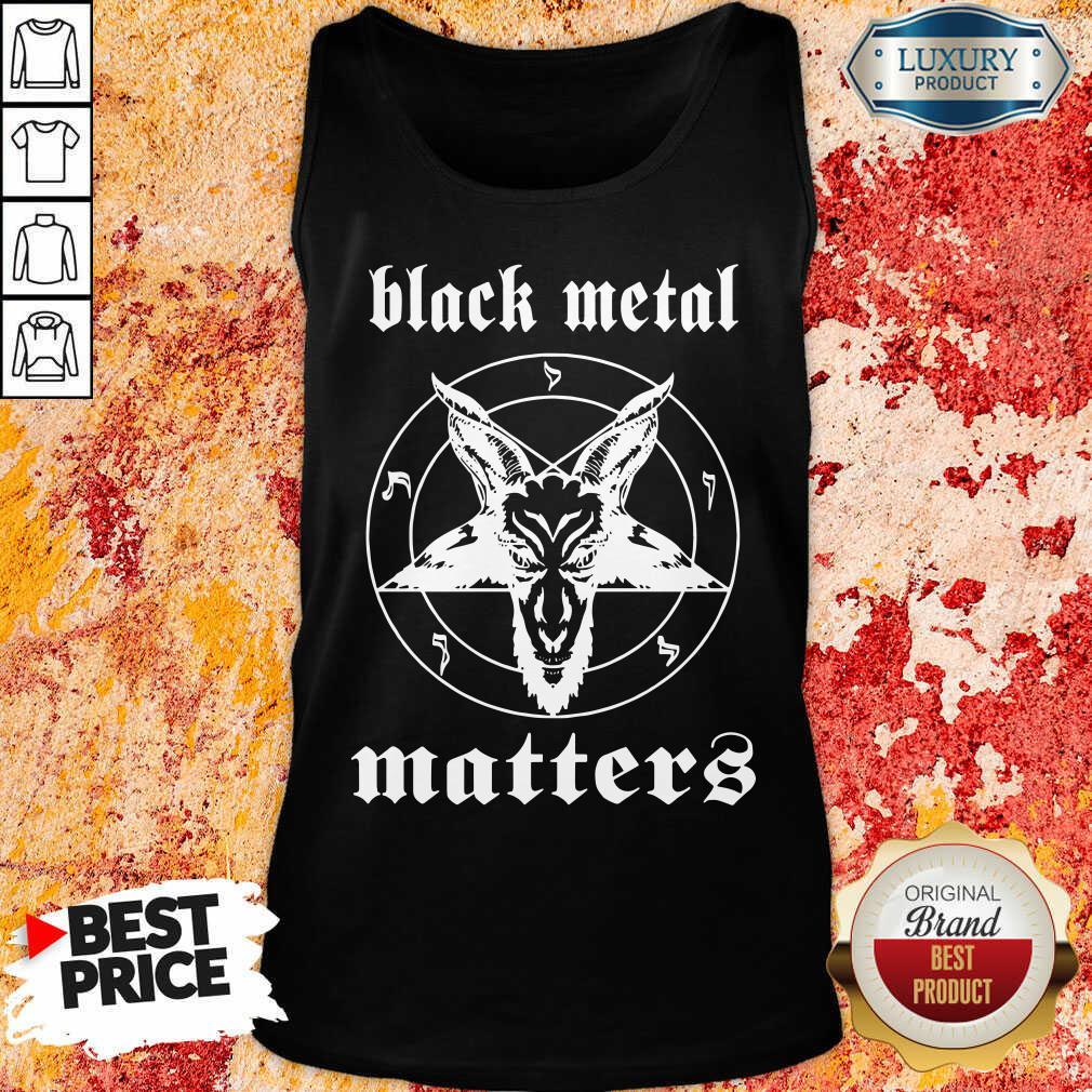 Goat Black Metal Matters Tank Top-Design By Soyatees.com