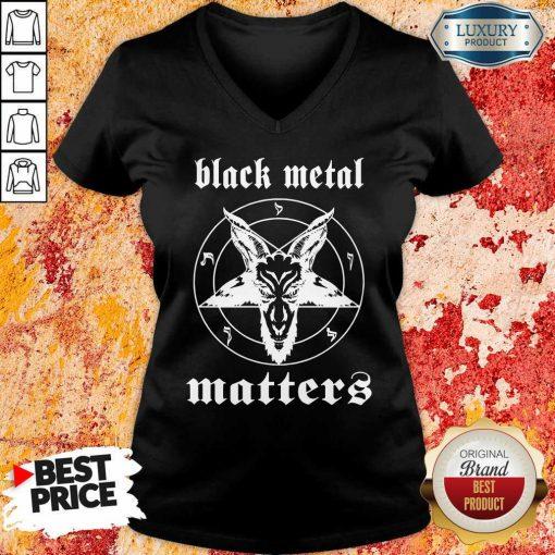 Goat Black Metal Matters V-neck-Design By Soyatees.com