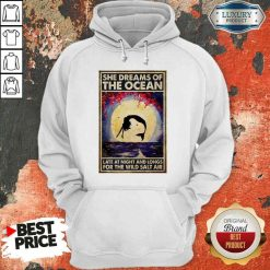 Good Mermaid She Dreams Of The Ocean Late At Night And Longs For The Wild Salt Air Hoodie-Design By Soyatees.com