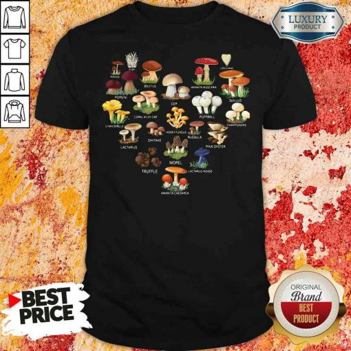 Good Mushroom Parasol Enoki Boletus Shirt-Design By Soyatees.com
