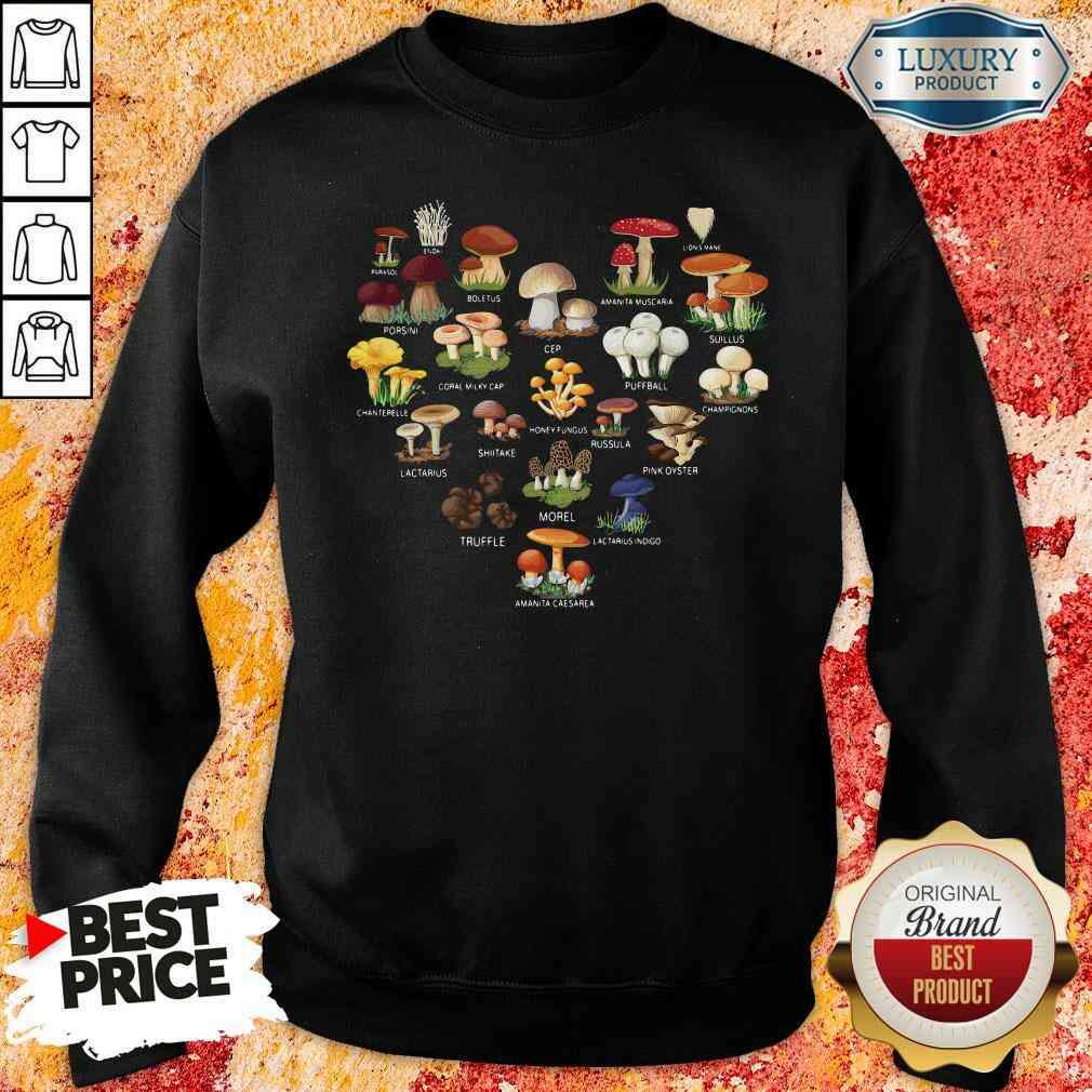 Good Mushroom Parasol Enoki Boletus Sweatshirt-Design By Soyatees.com