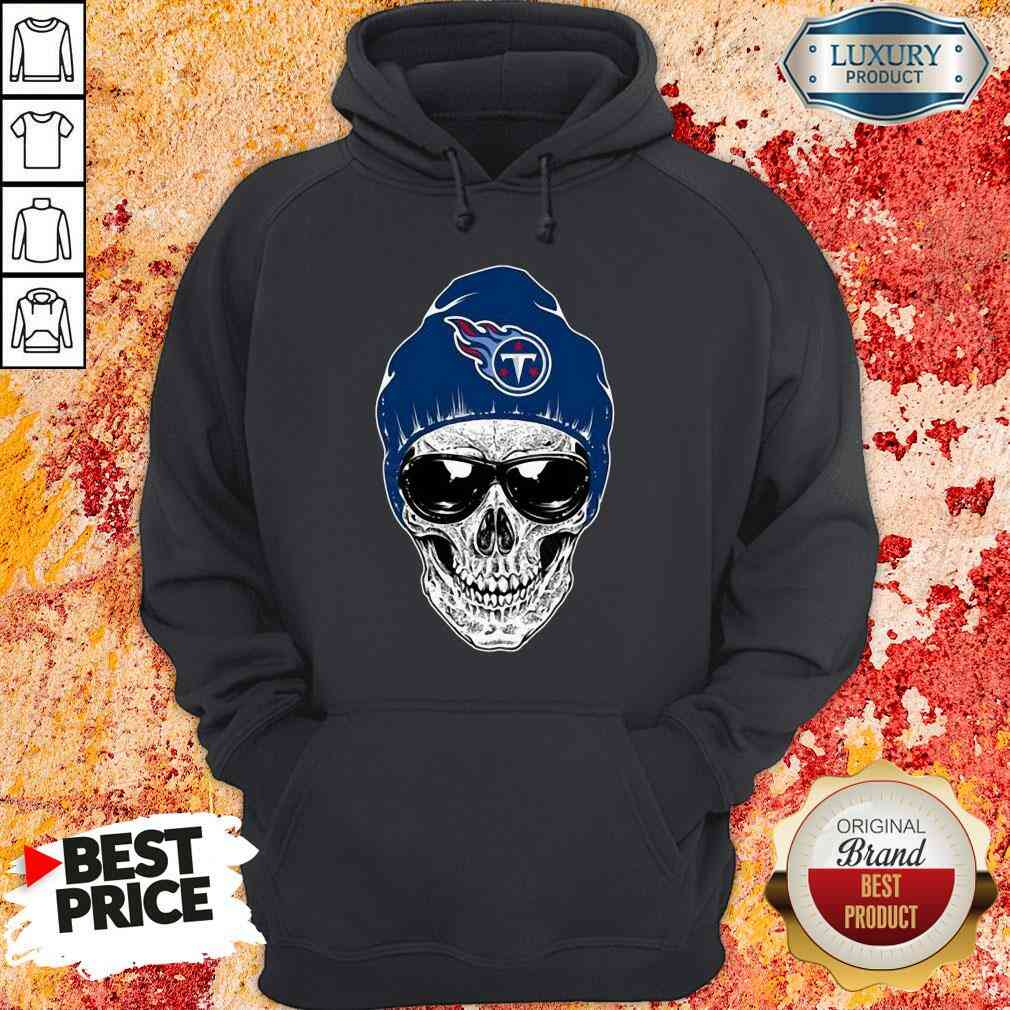 Good Nfl Tennessee Titans 079 Skull Rock With Beanie Hoodie-Design By Soyatees.com