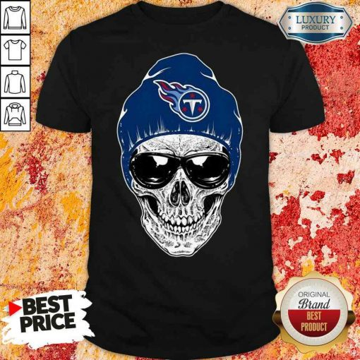 Good Nfl Tennessee Titans 079 Skull Rock With Beanie Shirt-Design By Soyatees.com