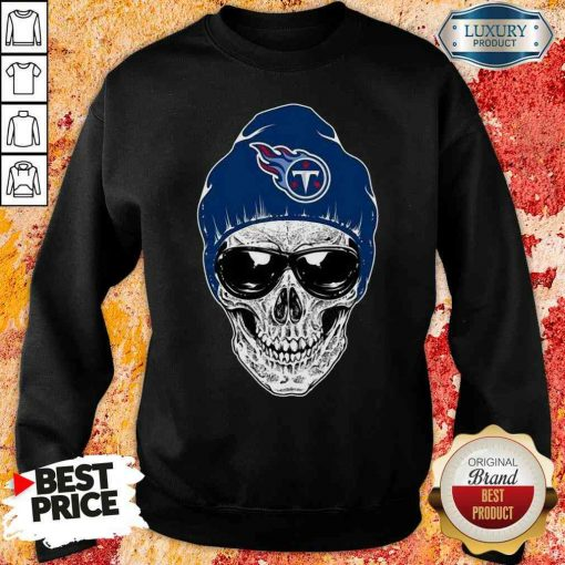 Good Nfl Tennessee Titans 079 Skull Rock With Beanie Sweatshirt-Design By Soyatees.com