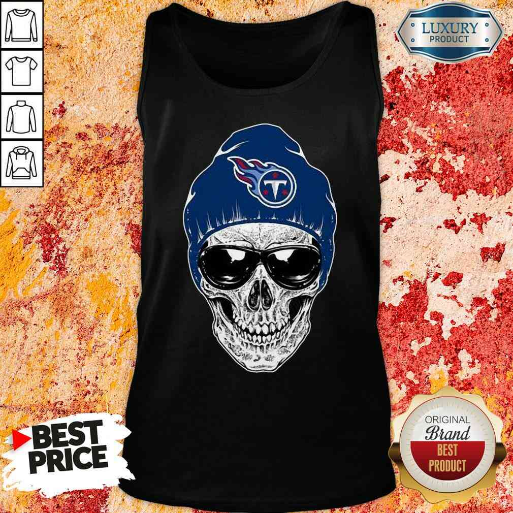 Good Nfl Tennessee Titans 079 Skull Rock With Beanie Tank Top-Design By Soyatees.com