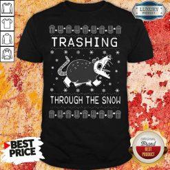 Good Opossum Trashing Through The Snow Ugly Christmas Shirt-Design By Soyatees.com