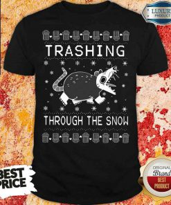 Good Opossum Trashing Through The Snow Ugly Christmas Shirt-Design By Soyatees.com