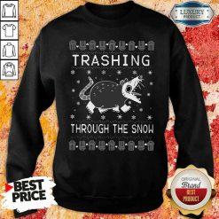 Good Opossum Trashing Through The Snow Ugly Christmas Sweatshirt-Design By Soyatees.com