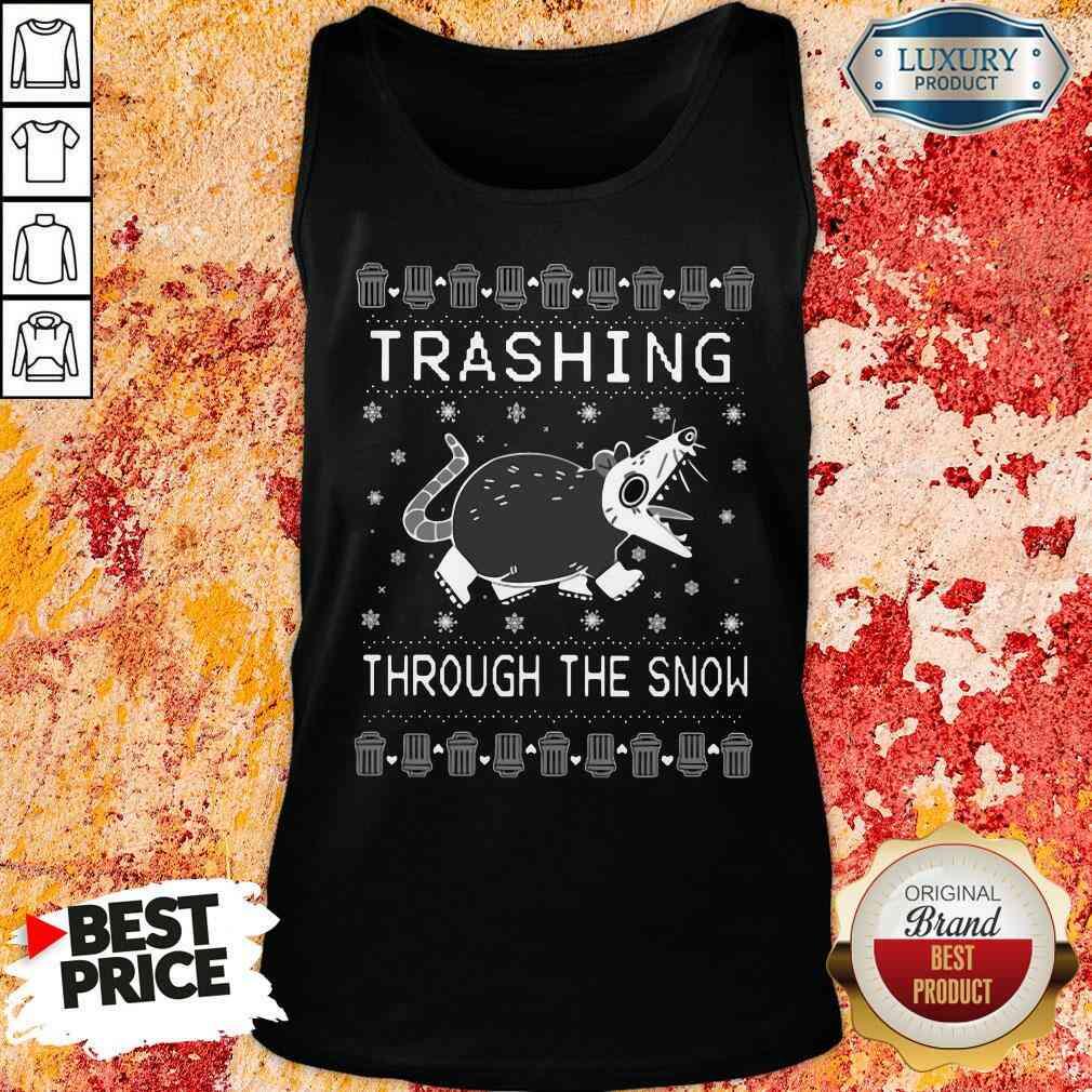 Good Opossum Trashing Through The Snow Ugly Christmas Tank Top-Design By Soyatees.com