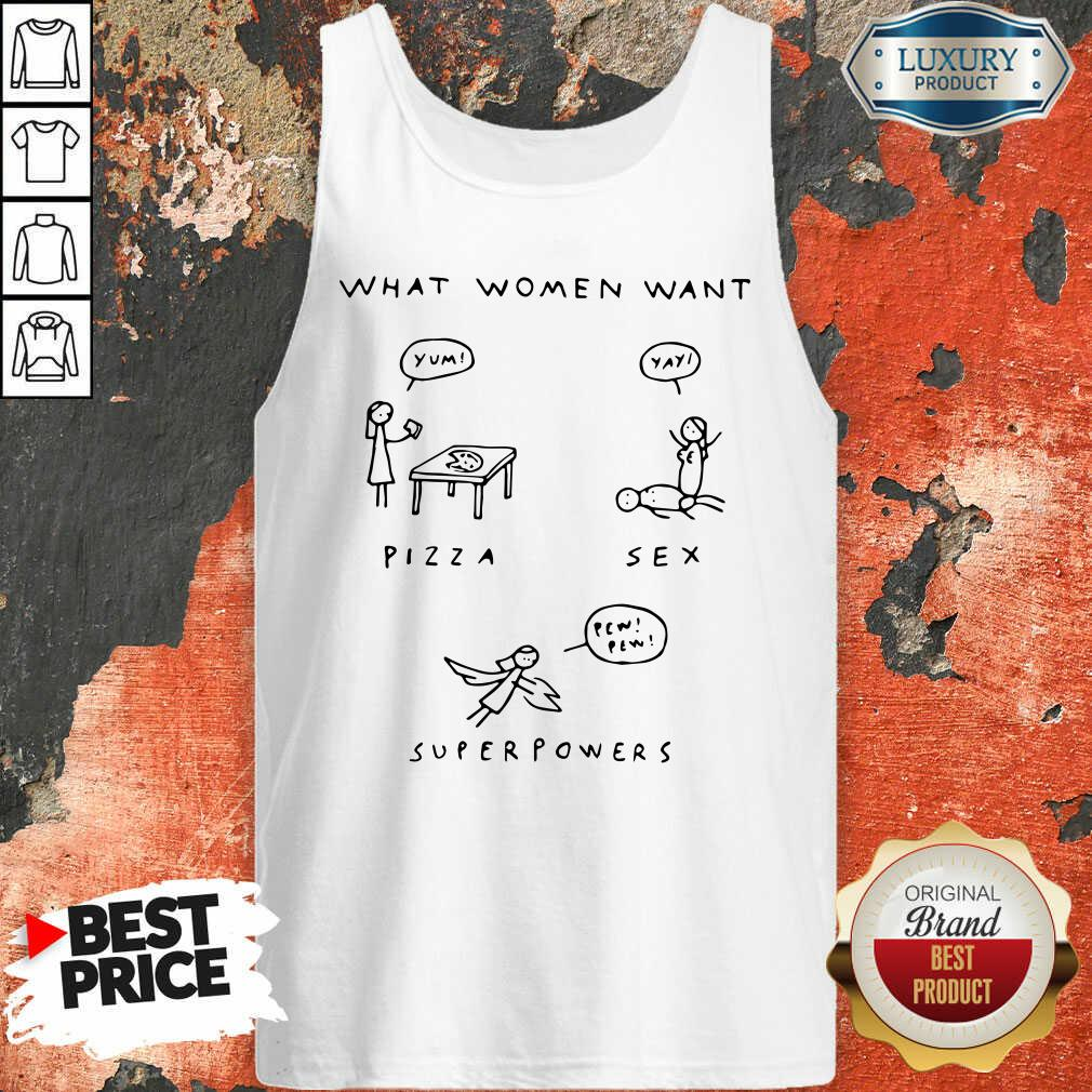 What Woman Pizza Sex Superpowers Tank Top-Design By Soyatees.com