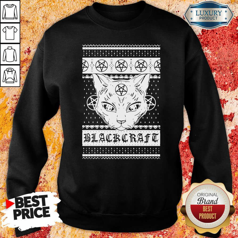 Happy Cat Black Craft Ugly Christmas Sweatshirt-Design By Soyatees.com