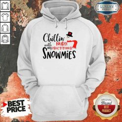 Happy Chillin With My Nurse Practitioner Snowmies Hoodie-Design By Soyatees.com