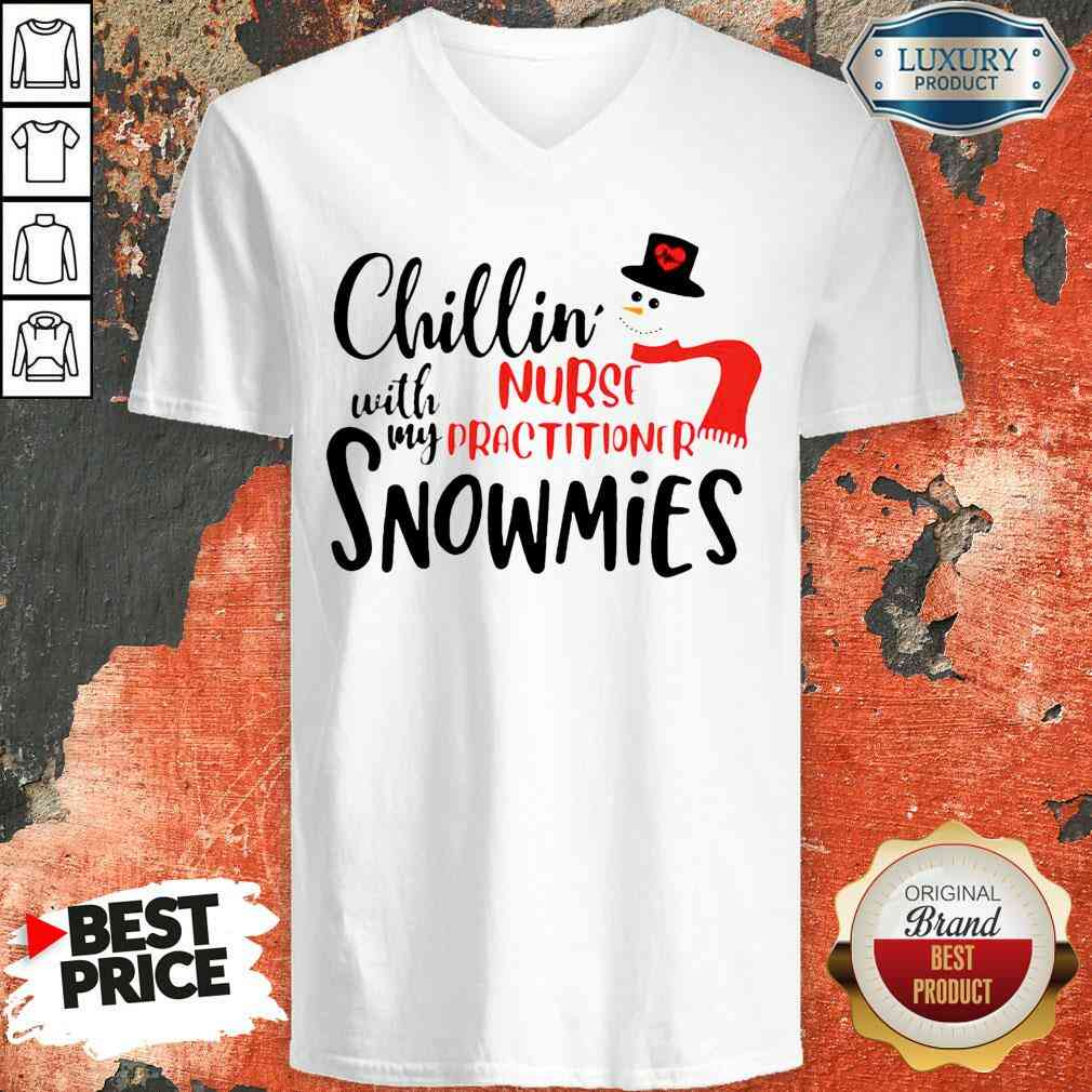 Happy Chillin With My Nurse Practitioner Snowmies V-neck-Design By Soyatees.com