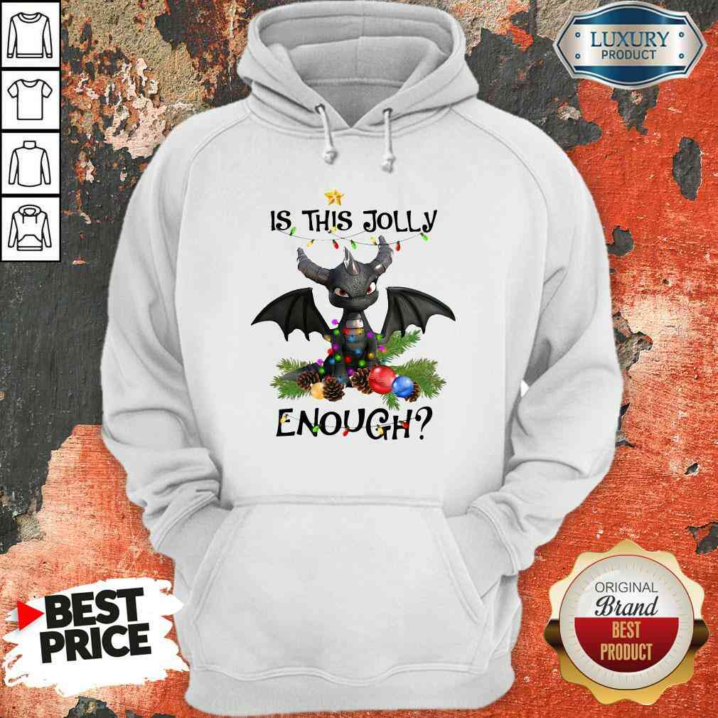 Happy Dragon Is This Jolly Enough Christmas Hoodie-Design By Soyatees.com