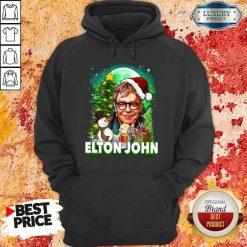 Elton John Santa Snowman Merry Christmas Signature Hoodie-Design By Soyatees.com