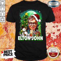 Elton John Santa Snowman Merry Christmas Signature Shirt
